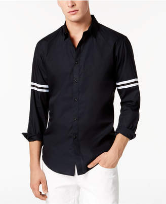 INC International Concepts I.n.c. Men's Striped-Sleeve Button Down Shirt, Created for Macy's
