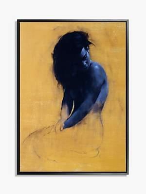 John Lewis & Partners Patrick Palmer - Beauty Framed Canvas Print, 104.5 x 74.5cm, Yellow/Blue
