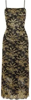 ADAM by Adam Lippes Metallic Embroidered Tulle Midi Dress