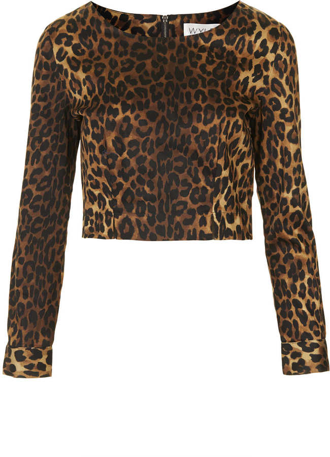 Topshop **Leopard Print Crop Top by WYLDR