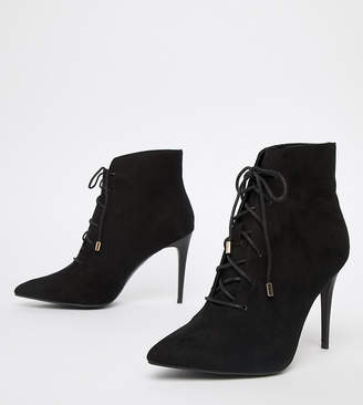 538c5a2562 New Look Suedette Lace Up Heeled Boot