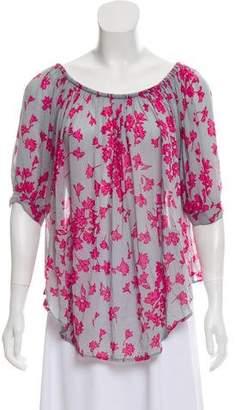 Smythe Printed Short Sleeve Blouse