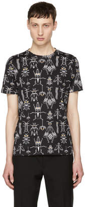 Fendi Black All Over Super Bugs T-Shirt