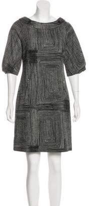 Lela Rose Wool Tweed Dress