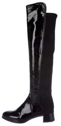 Stuart Weitzman Patent Leather Knee-High Boots