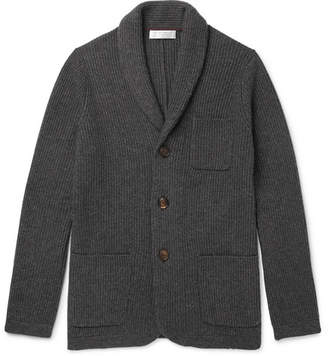 Brunello Cucinelli Slim-Fit Shawl-Collar Ribbed Cashmere Cardigan