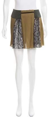 Mary Katrantzou Silk Plisse Skirt