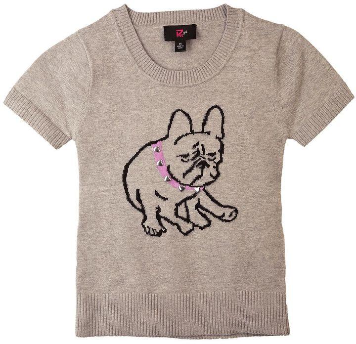Amy Byer Iz bulldog sweater - girls 7-16