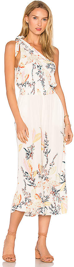 Free People Island Time Asymmetrical One Piece in Ivory