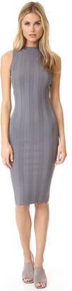 Milly Tech Rib Sheath Dress $385 thestylecure.com