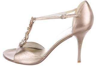 Stuart Weitzman Embellished Leather Sandals