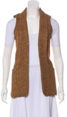 Smythe Wool-Blend Herringbone Vest w/ Tags