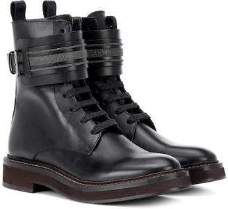 Brunello Cucinelli Lace-up leather boots