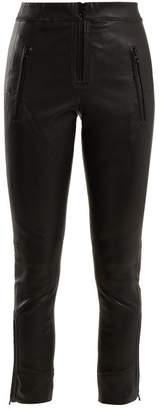 Isabel Marant Happy Skinny Leather Trousers - Womens - Black