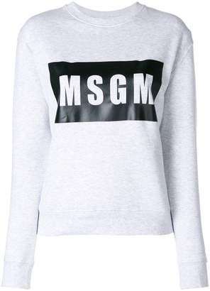 MSGM front logo sweatshirt