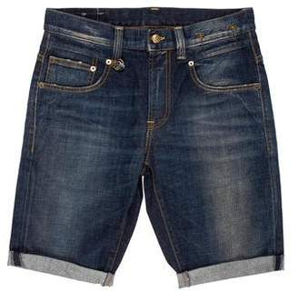 R 13 Boy Cuffed Denim Shorts