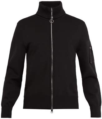 Neil Barrett Roll-neck knit bomber jacket
