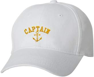 53381c664bce8 Go All Out Adult Captain with Anchor Embroidered Dad Hat Structured Cap