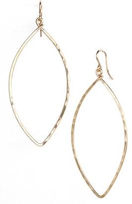 Women's Nashelle Ija Oblong Hoop Earrings $63 thestylecure.com