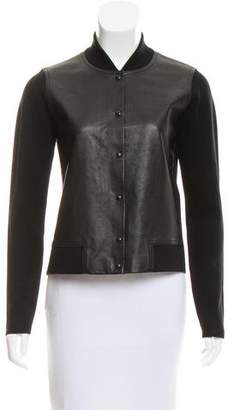 Alexander Wang Leather-Paneled Knit Jacket