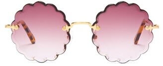 Chloé Rosie Round Frame Sunglasses - Womens - Purple