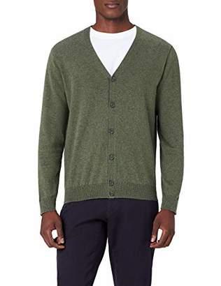 MERAKI Men's Lightweight Cotton V Neck Cardigan Sweater,Medium