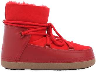 20mm Suede & Leather Snow Boots