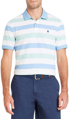 Izod Advantage Short Sleeve Stripe Pique Polo Shirt