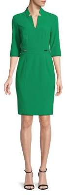 Tahari Arthur S. Levine Notch-Neck Sheath Dress