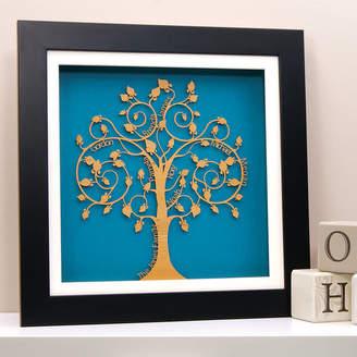 Urban Twist Personalised Family Tree Wall Art