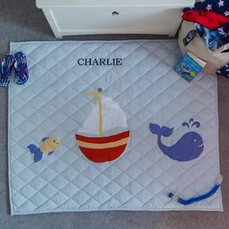 Kiddiewinkles Children's Nautical Light Blue Floor And Play Mat
