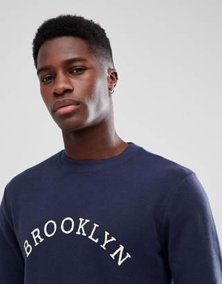 Selected Sweatshirt With Brooklyn Print