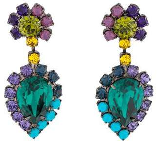 Dannijo Crystal Cruz Earrings