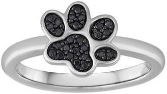Black Diamond FINE JEWELRY 1/10 CT. T.W. Color-Enhanced Paw Print Ring
