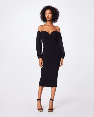 Nicole Miller Structured Heavy Jersey Plunge Dress