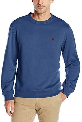 Izod Men's Advantage Performance Solid Crew Fleece