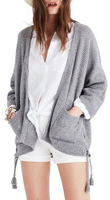 Women's Madewell Side Lace-Up Cardigan $98 thestylecure.com