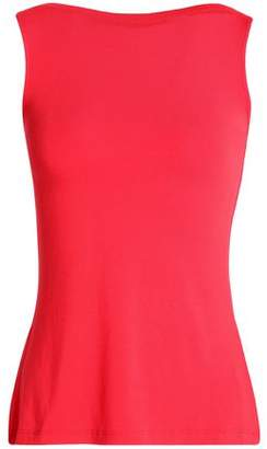 Bailey 44 Lattice-Trimmed Stretch-Jersey Top