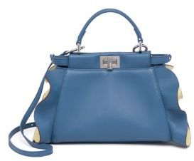 Fendi Peekaboo Mini Ruffled Leather Satchel $3,550 thestylecure.com