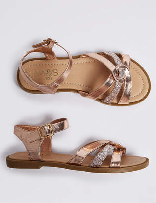 Marks and Spencer Kids Sparkle Sandals (13 Small - 6 Large)
