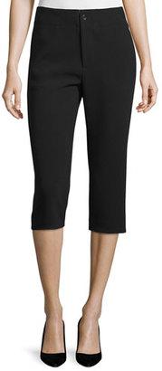 Co Mid-Rise Slim Cropped Pants, Black $695 thestylecure.com