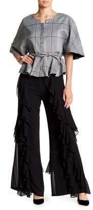 Gracia Cascading Ruffle Flare Pants