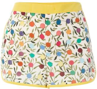 Outlet Excellent Buy Cheap Lowest Price Embroidered Cotton-twill Shorts - Yellow Red Valentino Discount Popular Zr6W6H