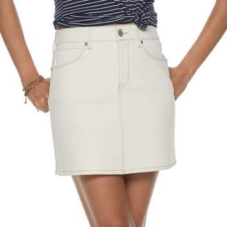 Mudd Juniors' 5-Pocket Clean Hem Mini Skirt