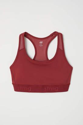 H&M Sports Bra High support - Rust red - Women