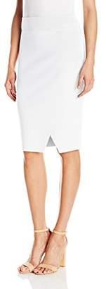 KENDALL + KYLIE Women's Compact Overlap Pencil Skirt