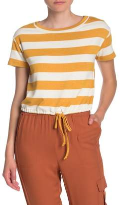 Love, Fire Cinch Short Sleeve Striped T-Shirt