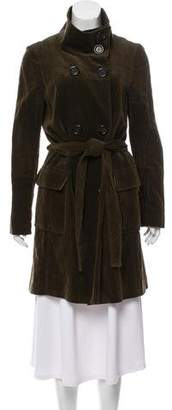 Michael Kors Velvet Trench Coat