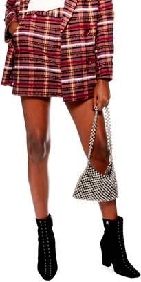 Topshop Brushed Check Miniskirt