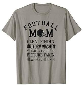 Mom Football Player Son Funny Proud Sports Fan Gear T-shirt